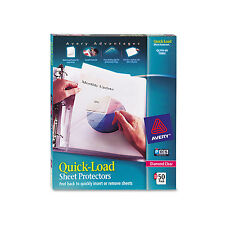Avery Quick Top & Side Loading Sheet Protectors Letter Diamond Clear 50/Box