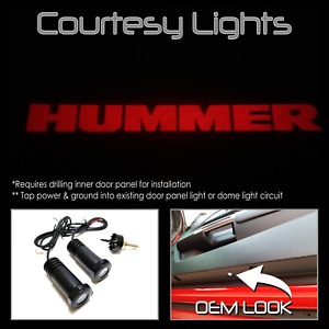 Lumenz CL3 LED Courtesy Logo Lights Ghost Shadow Hummer H1 H2 H3 100566 Red