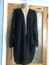 Papaya Women's Ladies Top Cardigan Black Oversized Size XL Uk 18/20