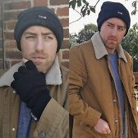 THMO Homme Hiver Tricot Chapeau Bonnet Beanie Thinsulate 3M 40g Doublés Polaire