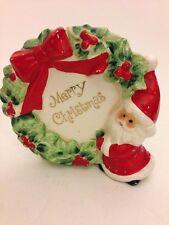 Vintage Porcelain Napkin Holder Christmas Made In Japan