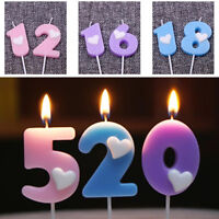 Happy Birthday Candle Number 0-9 Cake Candle Birthday Party Supply Decoration