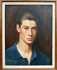 1964 Artist Dancer PAUL SWAN young MAN male PORTRAIT oil PAINTING