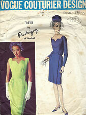 1960s Vintage VOGUE Sewing Pattern B36 DRESS (1833) By PEDRO RODGIGUEZ
