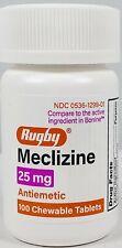 Meclizine 25mg Anti Nausea,Vertigo,Travel Sickness (Compare to Bonine) 100ct