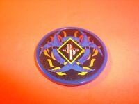 BIOHAZARD-FLAMES design Poker Chip Golf Ball Marker-Card Guard 11.5 gm Blue  NEW