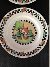 Mary Engelbreit Set Of 4 Sakura Home Sweet Home Salad Plates 1994