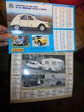 Ancien Calendrier 2003.14 Citroen DS 2CV Méhari Renault 4L Peugeot 403 Fiat 500