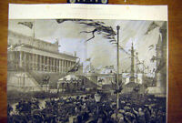 Old Antique Print 1886 St George'S Hall Corporation Queen Liverpool Visit 19th
