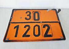 LKW Warntafel für Tanklaswagen Hinweistafel Gefahrengut Tafel Verstellbar