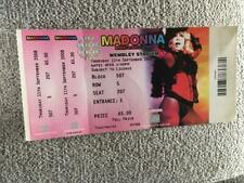 Madonna Unused ticket Wembley Sticky & Sweet tour  #207
