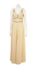 TOPSHOP KATE MOSS OFF WHITE DIAMANTÉ VTG MAXI DRESS GOWN BNWT £180 8 36 4