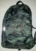 Hard Rock Cafe Backpack - Folds to a Zip Closed Pocket/Pouch when Empty - NWT