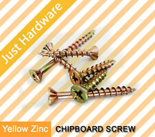 Chipboard Screw Screws Zinc yellow 16 20 25 28 30 35 40 45 50 65 75 100 mm New