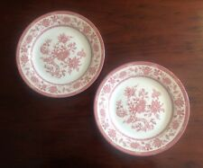 Churchill Dinner Plate Made in England Red Transferware Floral Classic Set of 2