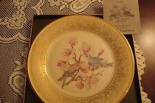 Marshall Boehm Birds Series Plates Lenox 1971 Goldfinch & Mountain Bluebird [a*4