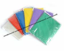 12 Festival PONCHO Disposable Plastic Raincoat Emergency Waterproof Rain Camping