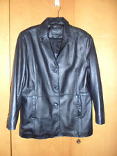 Pre-ownd mens leather jacket by Terry Lewis size M