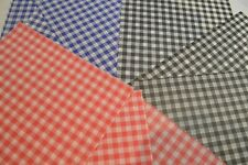 Gingham Greaseproof Paper Red,Black,Blue. 50 Sheets buy 2 get 1 free plus FREE P