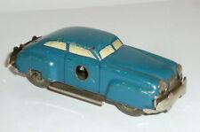 Old Tin Toy Car Distler Anstossauto Turning Car Clockwork Blue Tin Car