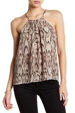 NWT- Joie Idalina Sleeveless Silk Python Print Cami Top, Sandalwood - Size Large