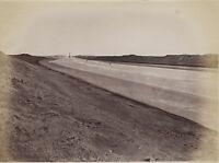 Egitto Canale Di Suez Foto Albumina Stampa Verso 1890 IN Piccolo Formato