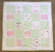 Patchwork Baby Girl Quilt Lap Blanket Nursery Bedding 30�X 30�