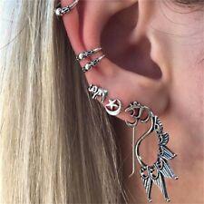 7 Pcs/set Fashion Personality Retro Sun Star Moon Yoga Om Carved Earrings