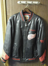Detroit Red Wings Black Leather Jacket Size M/M - NHL Official Licensed Product