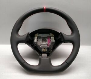 HONDA CIVIC TYPE R STEERING WHEEL FLAT NEW LEATHER RED STITCH EP3 S2000 01-06