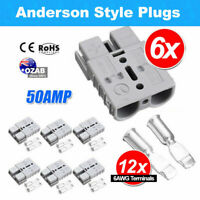 6X Anderson Style Plug Exterior DC Solar Caravan Power 50 AMP 12-24V Connectors