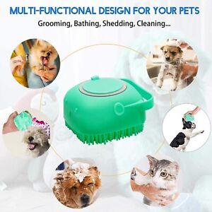 Pet Dog Shampoo Brush 2.7oz/80ml Cat Massage Comb Grooming Scrubber Brush