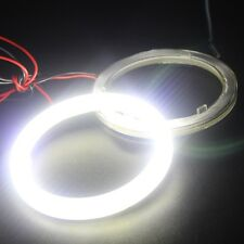1Pair 80MM Car Led Headlight COB Angel Eye Halo Ring Warning Lamps with Cover