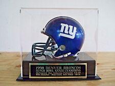 Football Mini Helmet Case With A Denver Broncos Super Bowl 33 Engraved Nameplate