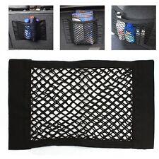 Universal 40*25cm Auto Car Magic Storage Net Pocket Bag Double Layer Holder BLK