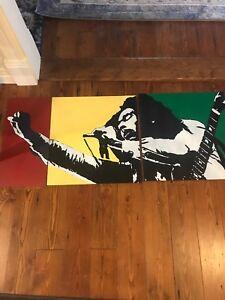 Original Bob Marley Reggae Art PAINTING Artist Taeoalli 2006 10/100