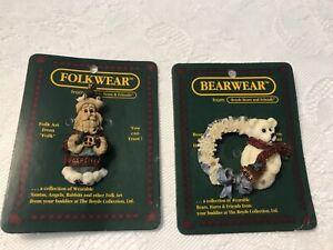 Boyds Bears Lapel Pin Christmas Lot of 2 ~ New