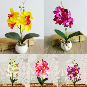 1PC Birthday Flower Bouquet Artificial Flowers Butterfly Orchid Silk Decor Home