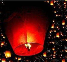 New 5pc Wishing Lantern Chinese Paper Sky Floating Wedding Flying Party Lamp Red