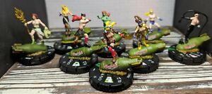 CUSTOM NSFW HEROCLIX DC Bombshell lot x8 Topless Lewd Wizkids Miniature Mini