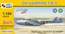 Mark I Models 1/144 Model Kit 14498 Vampire FB.9 'Tropical Fighter-Bomber' 2in1