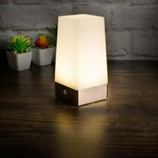 PIR Motion Sensor LED Table Lamp,Battery Operated - Bronze