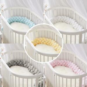Kid Baby Bed Crib Bumpers Nursery Knitted Cradle Pillow Cushion Protector Bar