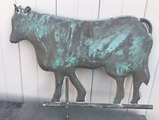 Cow Bull Weathervane Copper 26� Long Old Vintage Antique