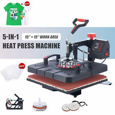 15x15 Swing Away Heat Press 5in1 Heat Press Machine For Home Amp Commercial Use