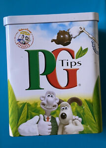 Wallace & Gromit Tin PG Tips Tea Caddy -Were Rabbit Limited Edition Collectable
