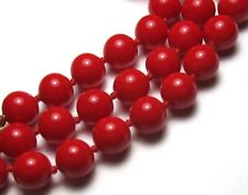 """30"""" HAND~KNOTTED """"MONET"""" NECKLACE OF 86 SMALL RED VINTAGE GLASS BEADS"""