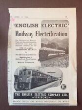 B9g Ephemera 1940s Advert English Electric Company Ltd Stafford New Zealand Rail