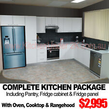 COMPLETE KITCHEN PACKAGE WITH PANTRY BENCHTOPS & APPLIANCES 3 Colours 30 Designs