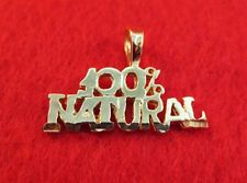 14KT GOLD EP 100% NATURAL WORD PENDANT CHARM - 2400